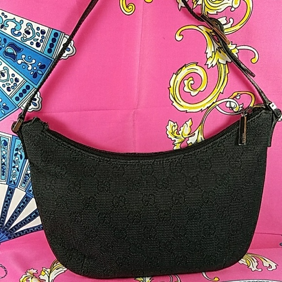 51f6201e271e Gucci Bags   Authentic Gg Monogram Canvas Shoulder Bag   Poshmark